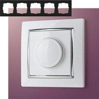 Рамка на 5 постов Werkel WL03-Frame-05 Белый / серебро