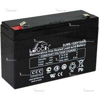 Аккумулятор Leoch DJW 6-12 (6В, 12Ач / 6V, 12 Ah / вывод Т2)