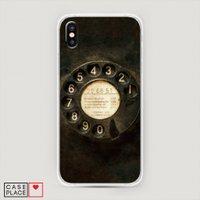 Чехол cиликоновый на iPhone X (10) Старинный телефон