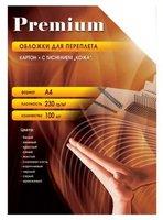 Обложка Office Kit CYA400230 для переплёта А4, картон, кожа, желтая, 100 шт.
