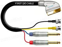 1K-AV35-05 Кабель комбинированный SCART > 2x BNC S-Video (Y/S Video вход-выход) + 2x Jack 6.3 mono (Аудио стерео вход/выход)
