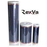 Теплый пол инфракрасный пленочный RexVa (ширина 100 см.) под ламинат, ковролин, линолеум, электрический 220 Вт на метр погонный для инфракрасного обогрева