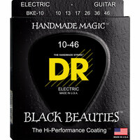 DR Strings BKE-10 BLACK BEAUTIES Black Coated Electric 10-46 струны для электрогитары