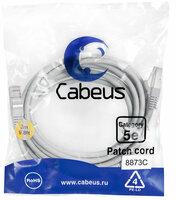 Cabeus PC-FTP-RJ45-Cat.5e-3m-LSZH Патч-корд FTP, категория 5е, 3 м, LSZH, экранированный, серый