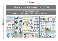 Стенд «Техника безопасности при проведении арматурных работ» (3 плаката)