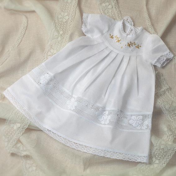 Сшить платье для девочки на крестины