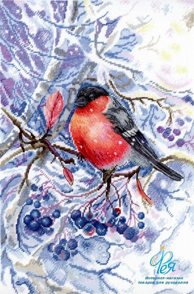 Вышивка бисером птички в лесу 96