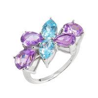 Серебряное кольцо Candy с аметистом и топазом арт. CDR010