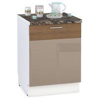 Кухня Адель мокко глянец/какао горизонт Панель для посудомоечной машины 600