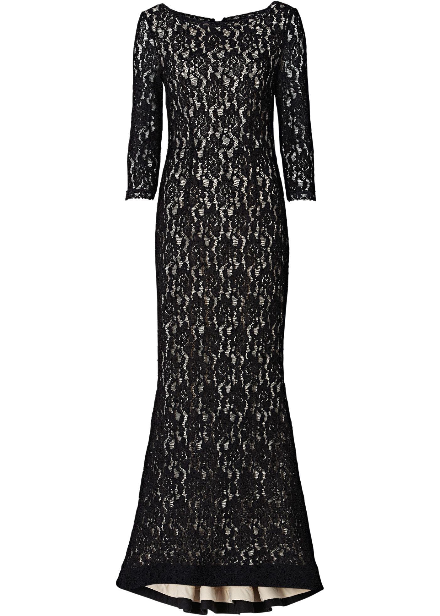 Красивые платья в пол из кружева