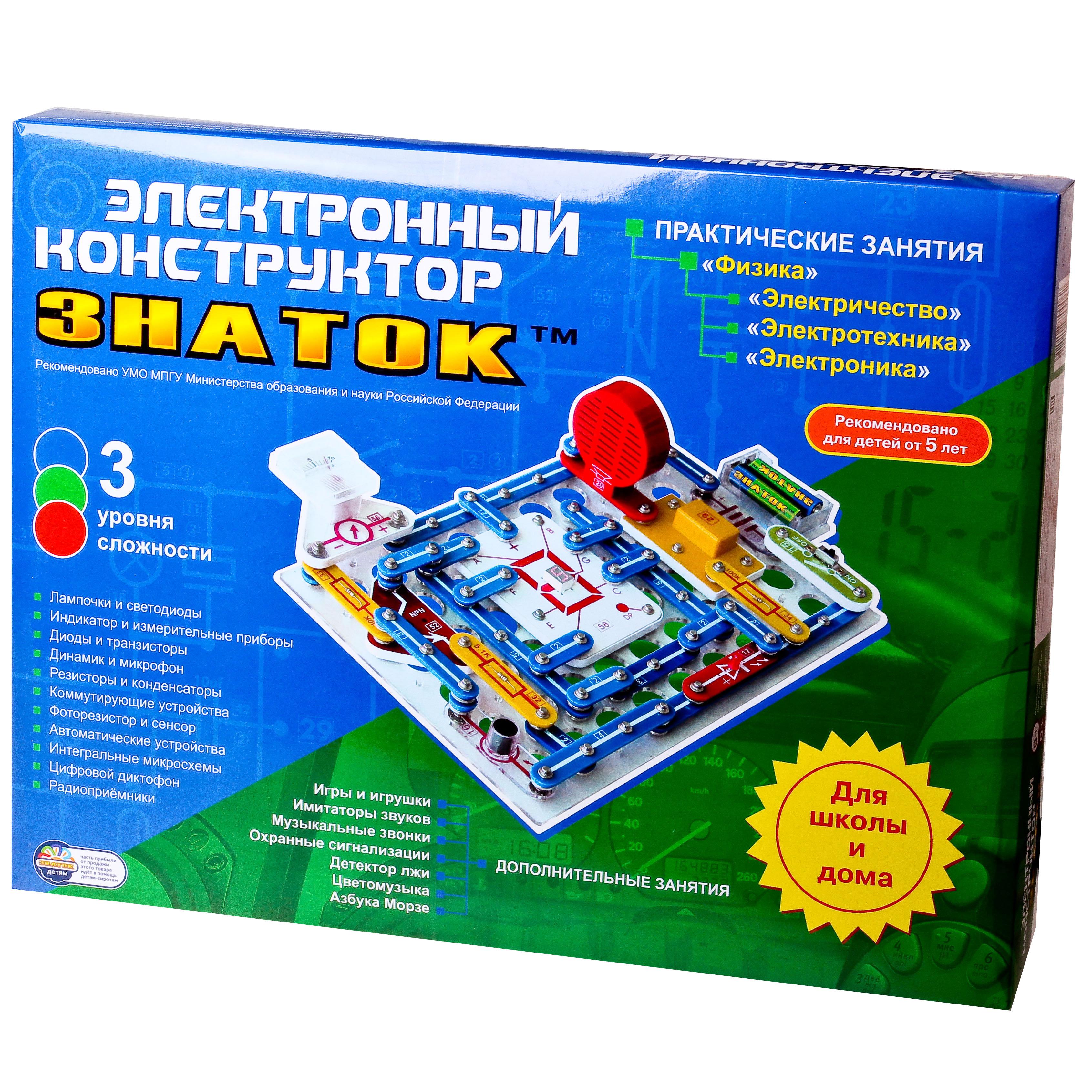 Электронные конструкторы знаток 999 схем