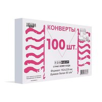 Конверт почтовый Куда-Кому, С5 (162х229 мм), стрип, 100 штук