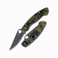 Складные ножи Spyderco Spyderco Нож складной Military™, Black DLC-Coated Crucible CPM® S30V™ Steel, Digital Camo G-10 Handle C36GPCMOBK