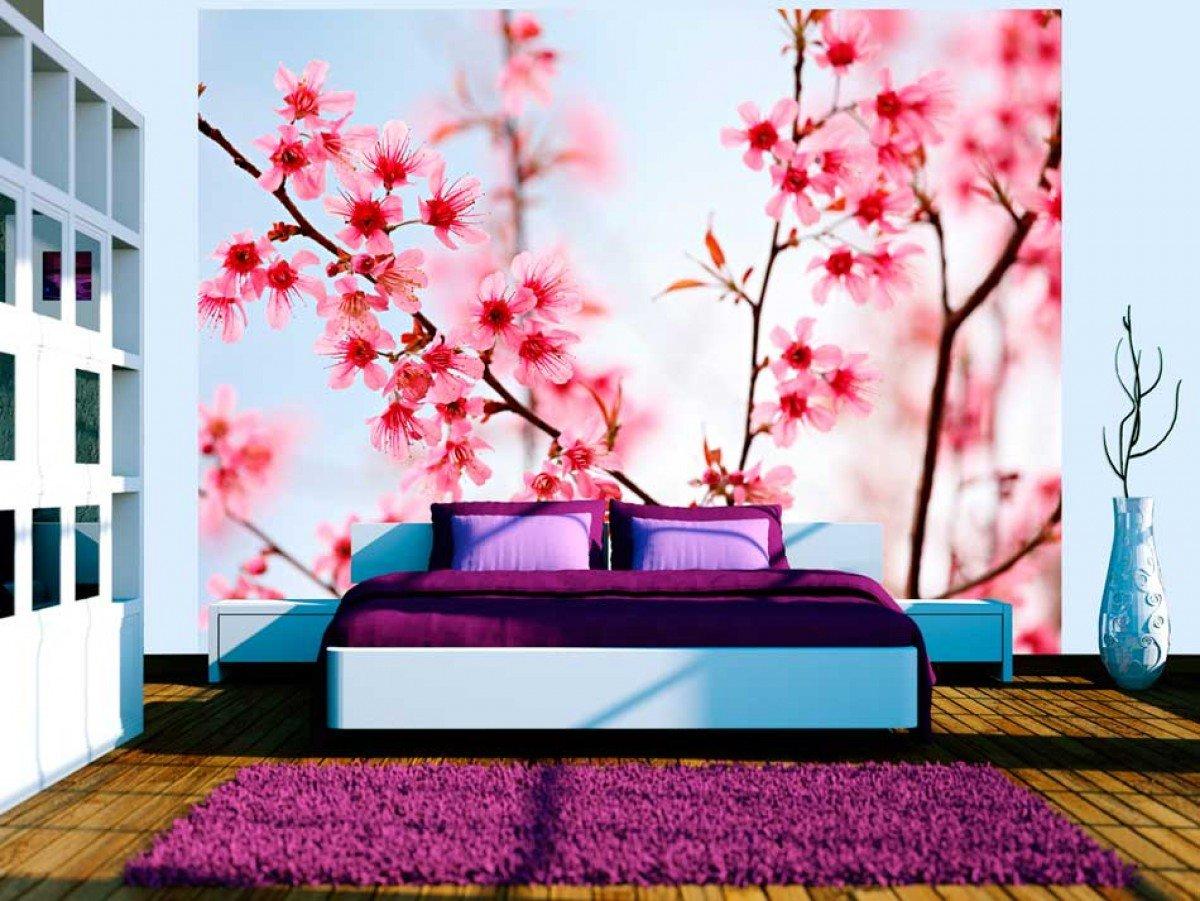 Фото обоев со цветами