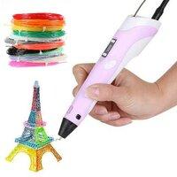 3D ручки_RP100B розовая + 150м АБС пластика + подарок