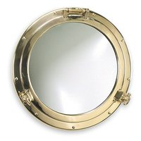 Зеркало в иллюминаторе из латуни Foresti & Suardi 2003S.L 210 x 150 мм