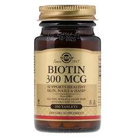 Solgar Биотин, 300 мкг, 100 таблеток