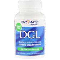 Enzymatic Therapy DGL деглициризированная солодка без фруктозы и сахара 100 жевательных таблеток