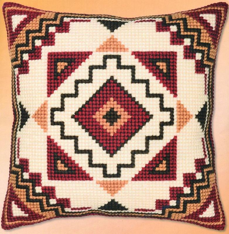 Схемы для вышивки крестом для подушек 40x40 орнаменты 72