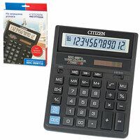 Калькулятор настольный CITIZEN SDC-888TII (205х159 мм), 12 разрядов, двойное питание#S CITIZEN