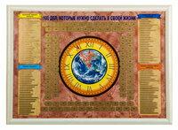 АСК, Скретч-плакат 100 дел… в рамке (цвет бежевый) ()