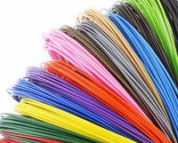 Всего - 120 метров - Пластик для 3д ручки АБС цветной 100 метров + 10 метров АБС ст + подарок - 10 м в (цветного)