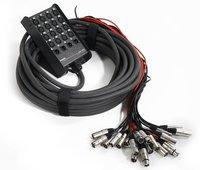 Proel EBN1604 мультикор, 16 входов XLR, 4 выхода XLR, коммутационный бокс, позолоченные контакты, длина 25м