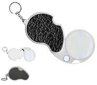 Лупа карманная Magnifier 4х-60мм/20x-12мм двойная складная с подсветкой (1 LED) MG6901C