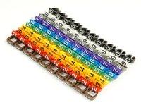 Маркер на кабель Cabeus MR-67 (клипсы), защелкивающиеся D 6-7мм, 0-9, 10 цветов (100 шт.)