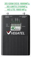 Усилитель сигнала 2G DCS (GSM) 1800МГц 3G UMTS 2100МГц 4G LTE 1800Мгц Vegatel (вегател) VT 2 - 1800/3G LED