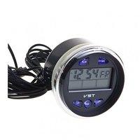 Часы автомобильные VST 7042V с термометром и вольтметром