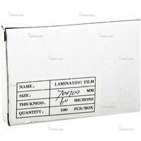 Плёнка для ламинирования Bulros 70х100 мм, 60 мкм, глянцевая, 100 шт.