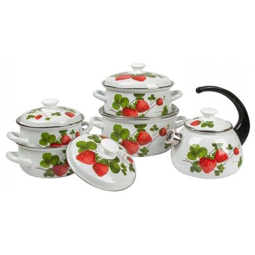 Набор посуды КМЗ Летняя ягода 9 чайник кмз 3 л с узором