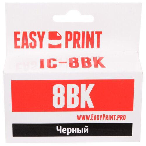 Фото - Картридж EasyPrint IC-CLI8BK тапочки детские для девочек cji18aw 183 фуксия размер 34