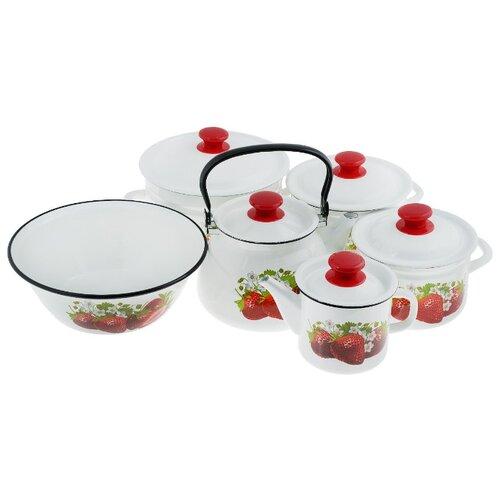 Набор посуды КМЗ Садовая чайник кмз 3 л с узором