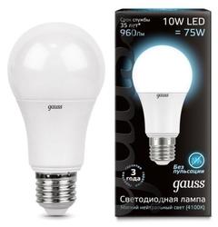 Лампа светодиодная gauss LD102502210, E27, A60, 10Вт