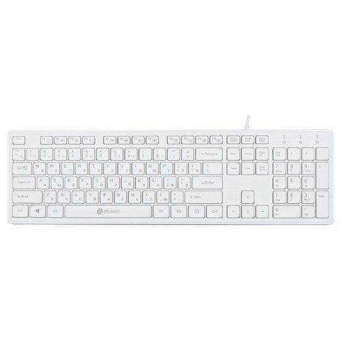 Клавиатура OKLICK 500M White USB клавиатура oklick 500m черный usb slim multimedia