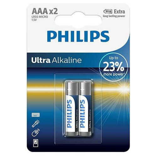 Батарейка Philips Ultra аксессуар philips swv2255w 10