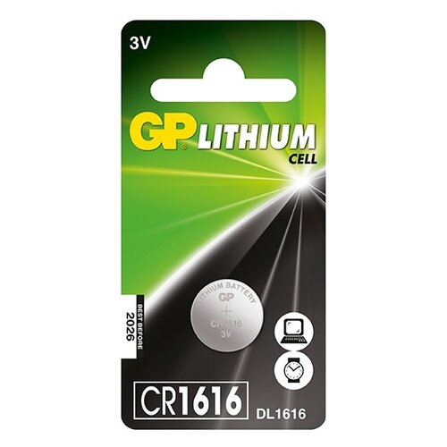 Фото - Батарейка GP Lithium Cell CR1616 батарейка gp lithium cr123a