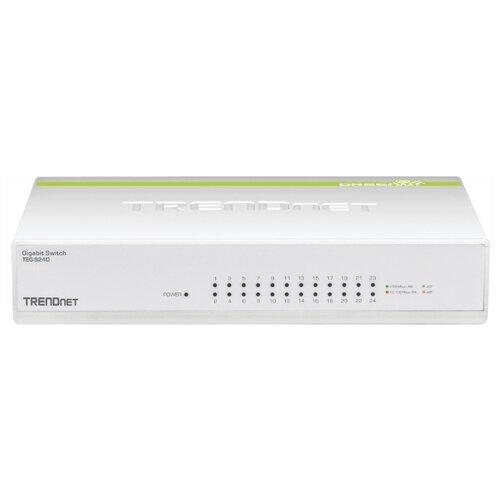 Фото - Коммутатор TRENDnet TEG-S24D сетевой адаптер trendnet teg ecsx teg ecsx оптоволоконный многомодовый 1000base sx адаптер с интерфейсом pci express