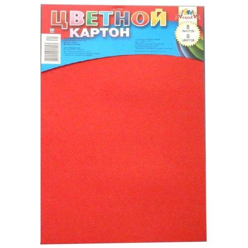 Цветной картон Апплика A4 8