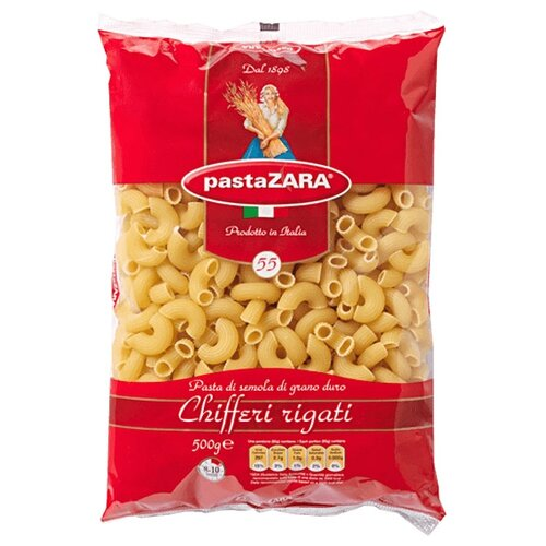 Pasta Zara Макароны 055 рожок витой cavatappi pasta zara 61 500г