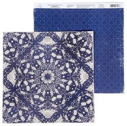Бумага Арт Узор 29.5x29.5 см, 1 лист, Растительный паттерн, коллекция Восточная сказка