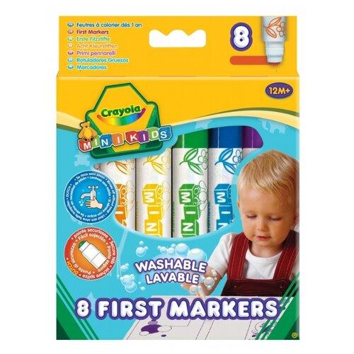 Crayola Фломастеры Mini Kids 8 crayola двусторонние фломастеры crayola
