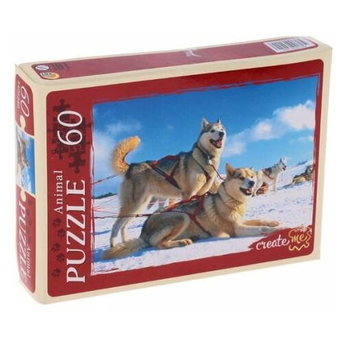 Фото - Пазл Рыжий кот Лайки в упряжке коробка рыжий кот 33х20х13см 8 5л д хранения обуви пластик с крышкой