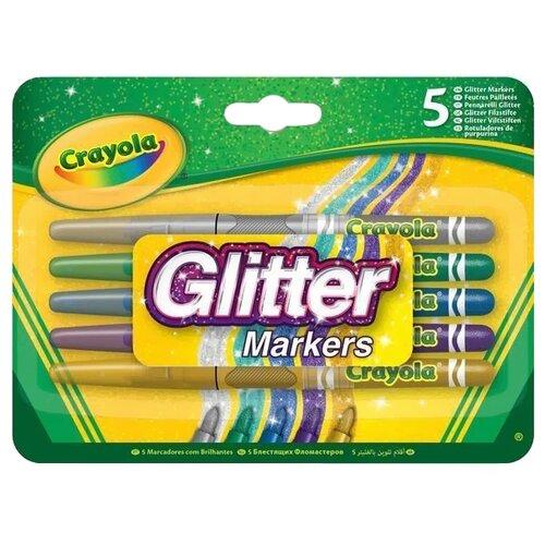 Crayola Фломастеры блестящие 5 crayola двусторонние фломастеры crayola