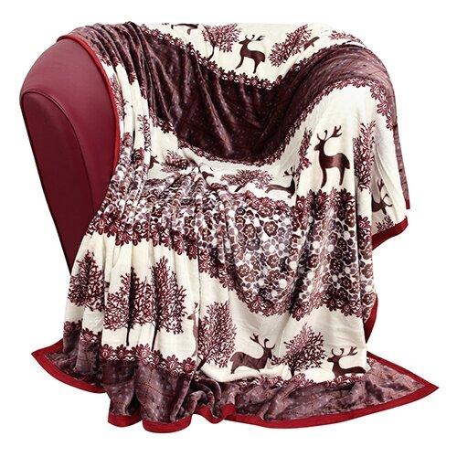 Плед EL CASA Олени 200 х 230 см кофр для хранения el casa плетение 35 30 20 см коричневый