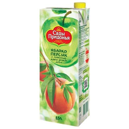 пюре сады придонья сады придонья яблоко персик с 5 мес 120 г Сок Сады Придонья Яблоко-Персик