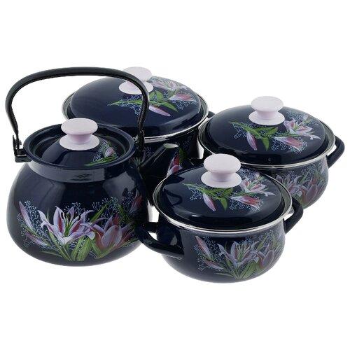 Набор посуды КМЗ Версаль 7 пр. чайник кмз 3 л с узором