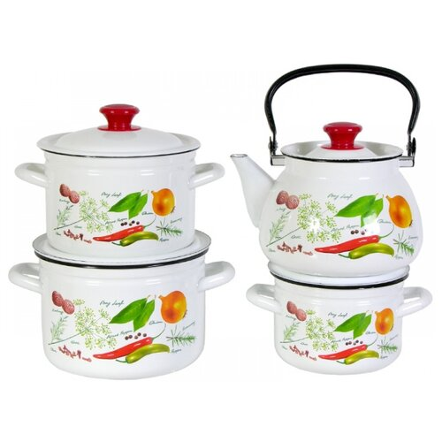 Набор посуды КМЗ Специи 7 пр. чайник кмз 3 л с узором